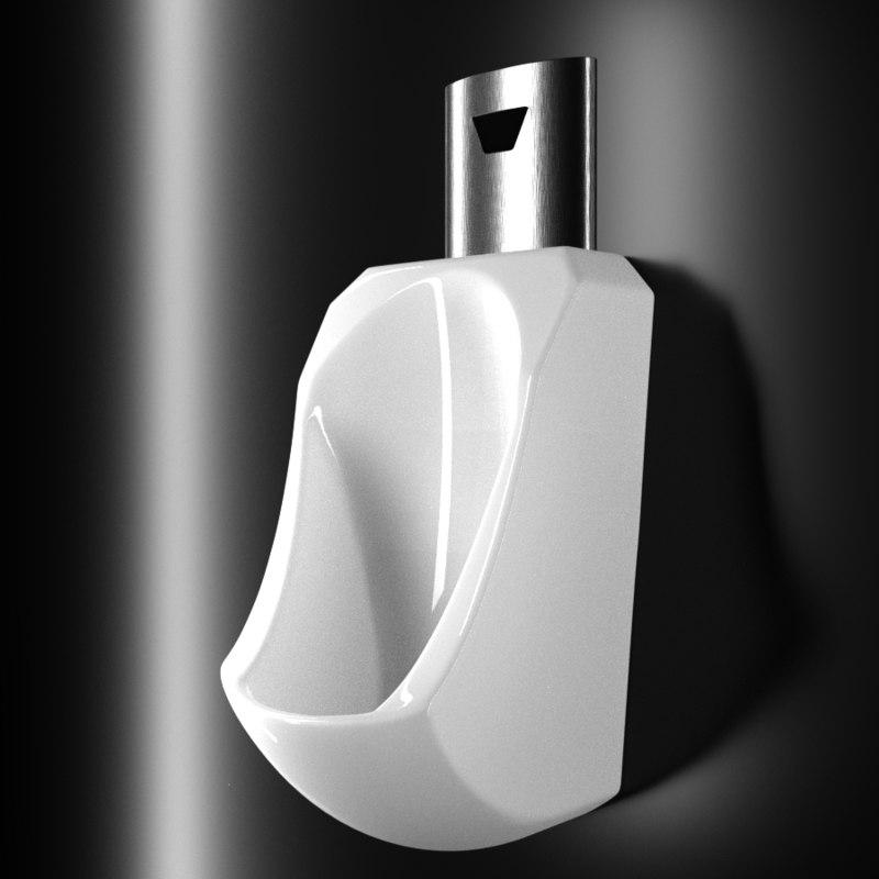 3D model urinal toilet wc