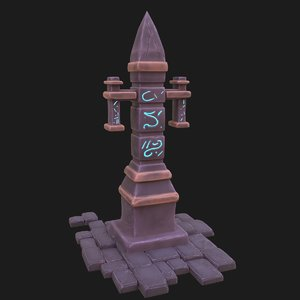 3D model obelisk bricks