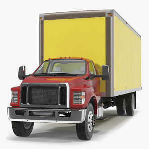 3D box truck generic simple model