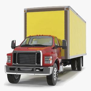 3D box truck generic simple model
