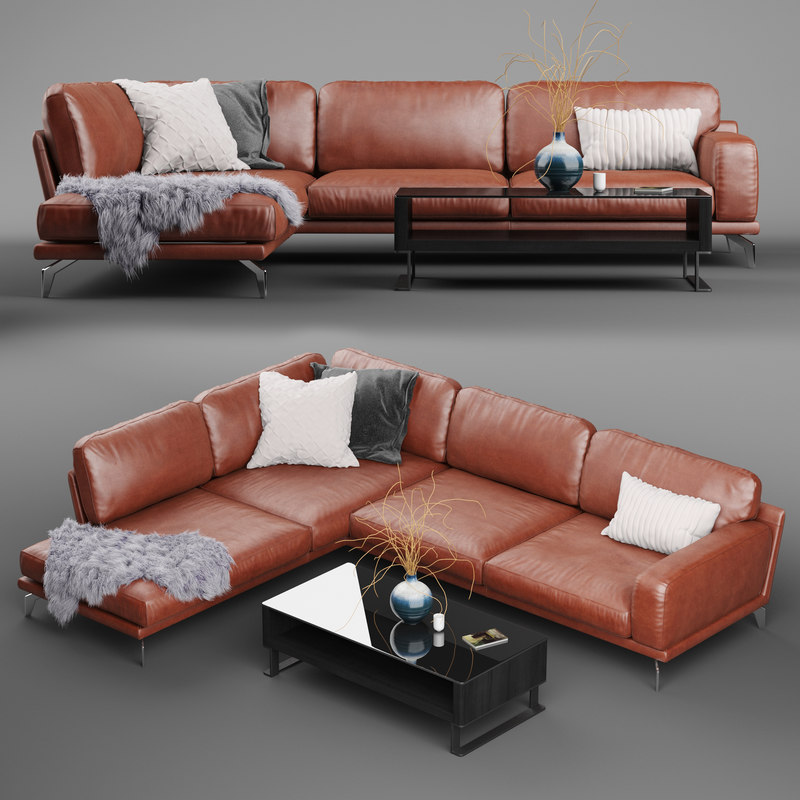peruna leather modular sectional sofa model