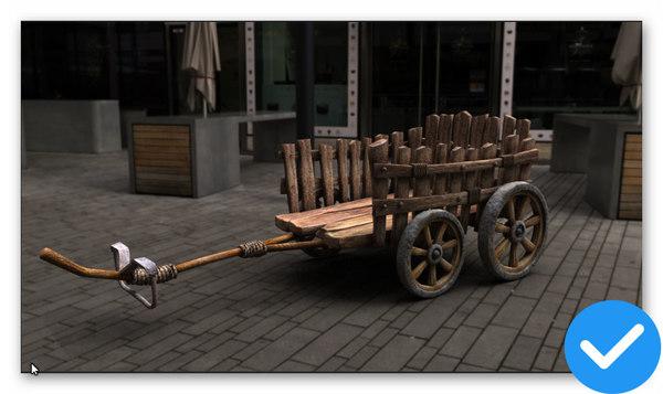 3D model carriage car