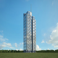 heron tower 3D model