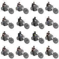 pack rigged biker 3D model