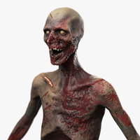 zombie pbr character 3D