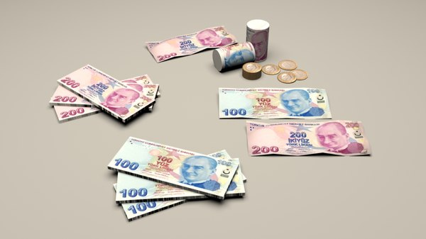 turk lira 3D model