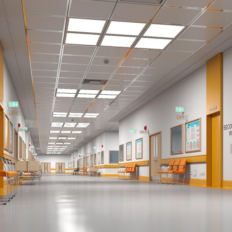 3D hospital hallway modular