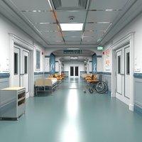 3D model Hospital Hallway 3 Modular