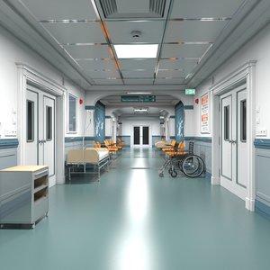 hospital hallway modular model