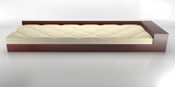 art deco daybed 3D model