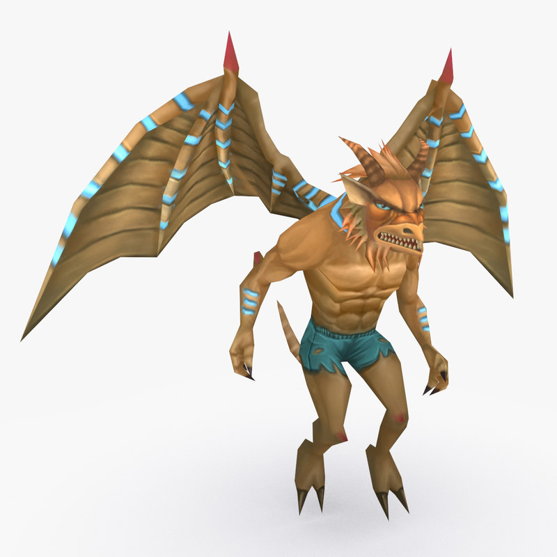 3D rigged creature type b model