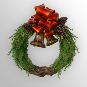 christmas decoration wreath included 3D