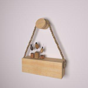 3D model wooden