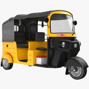 tuk-tuk modeled 3D model