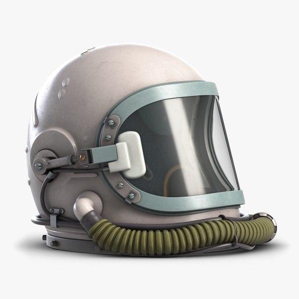 soviet astronaut space helmet 3D model