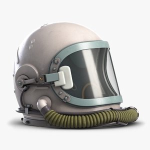 soviet astronaut space helmet 3D model