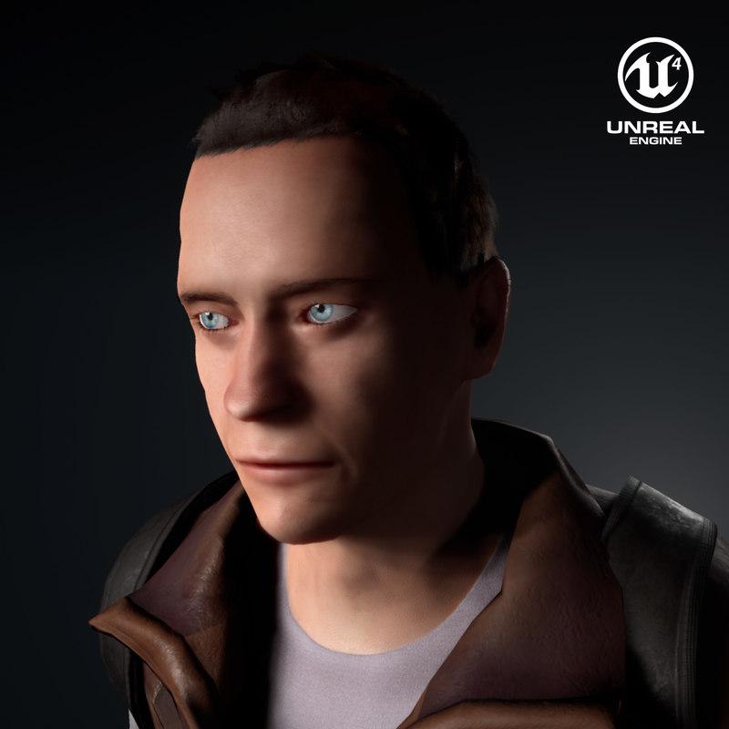 3D survivalist character