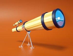 3D cartoon telescope