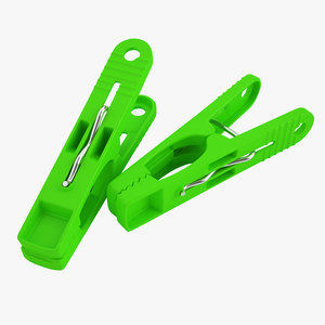 plastic clothespin clothes 3D model