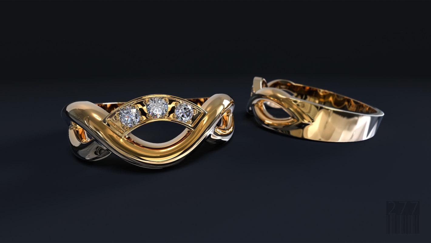 fashion women ring form 3D model