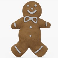 gingerbread man ginger 3D model