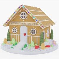 3D model gingerbread pbr