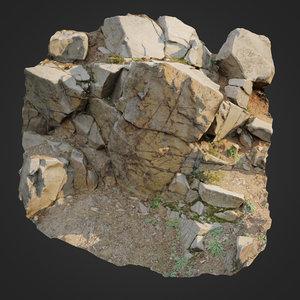 3D scanned cliff face h model