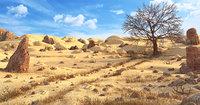desert terrain sand 3D