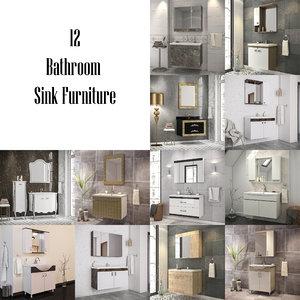 bathroom furniture - 3D