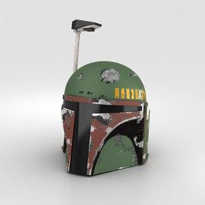 3D boba fett helmet model