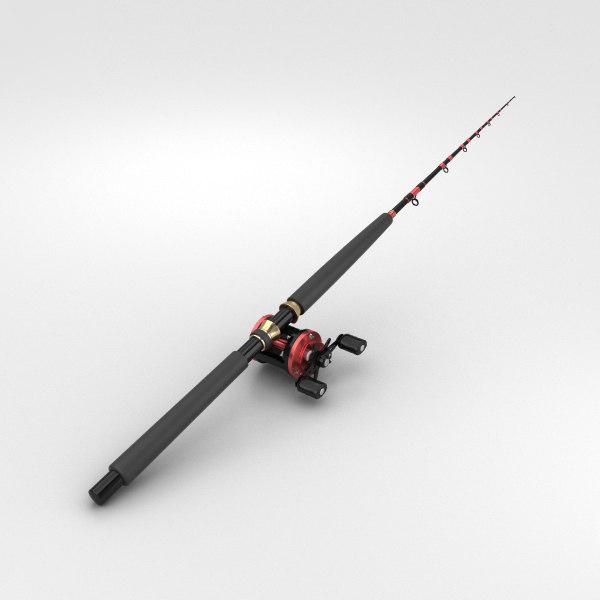 3D fishing rod