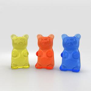 gummy bear gum 3D model