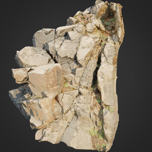 scanned cliff face model
