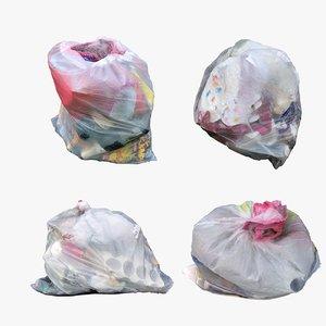 garbage bags 3D model