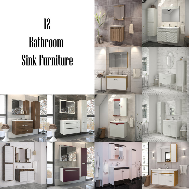 bathroom furniture - 3 3D
