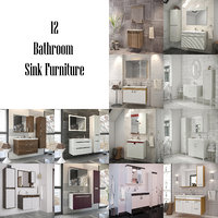 bathroom furniture - 3 3D