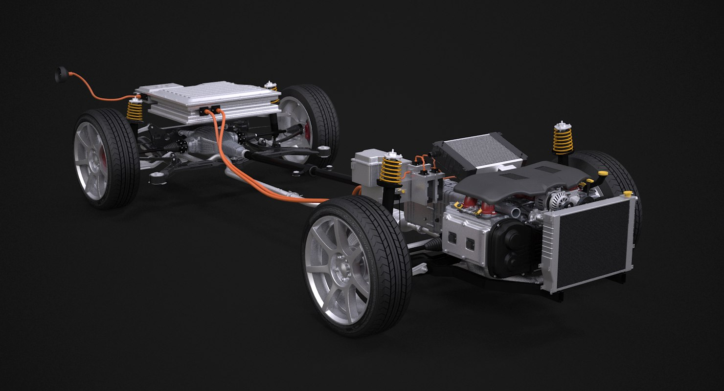 4x4 hybrid suspension 3D model