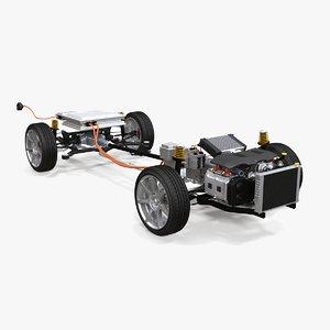4x4 hybrid suspension 3D model