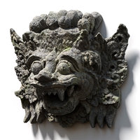 3D stone barong temple guardian model