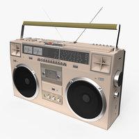 3D model boombox boom box