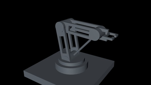 simple robotic arm hydraulic 3D