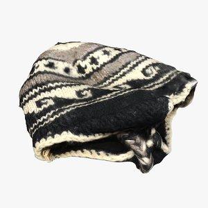 woolen winter cap 3D model