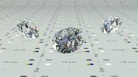 3D tolkowsky ideal cut diamond