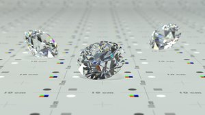 3D tolkowsky ideal cut diamond
