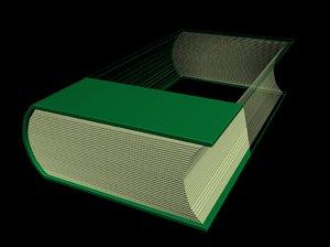 hd book 3D model
