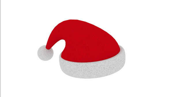 christmas hat rigged 3D model