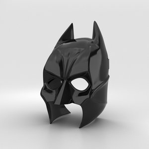 3D batman mask bat model