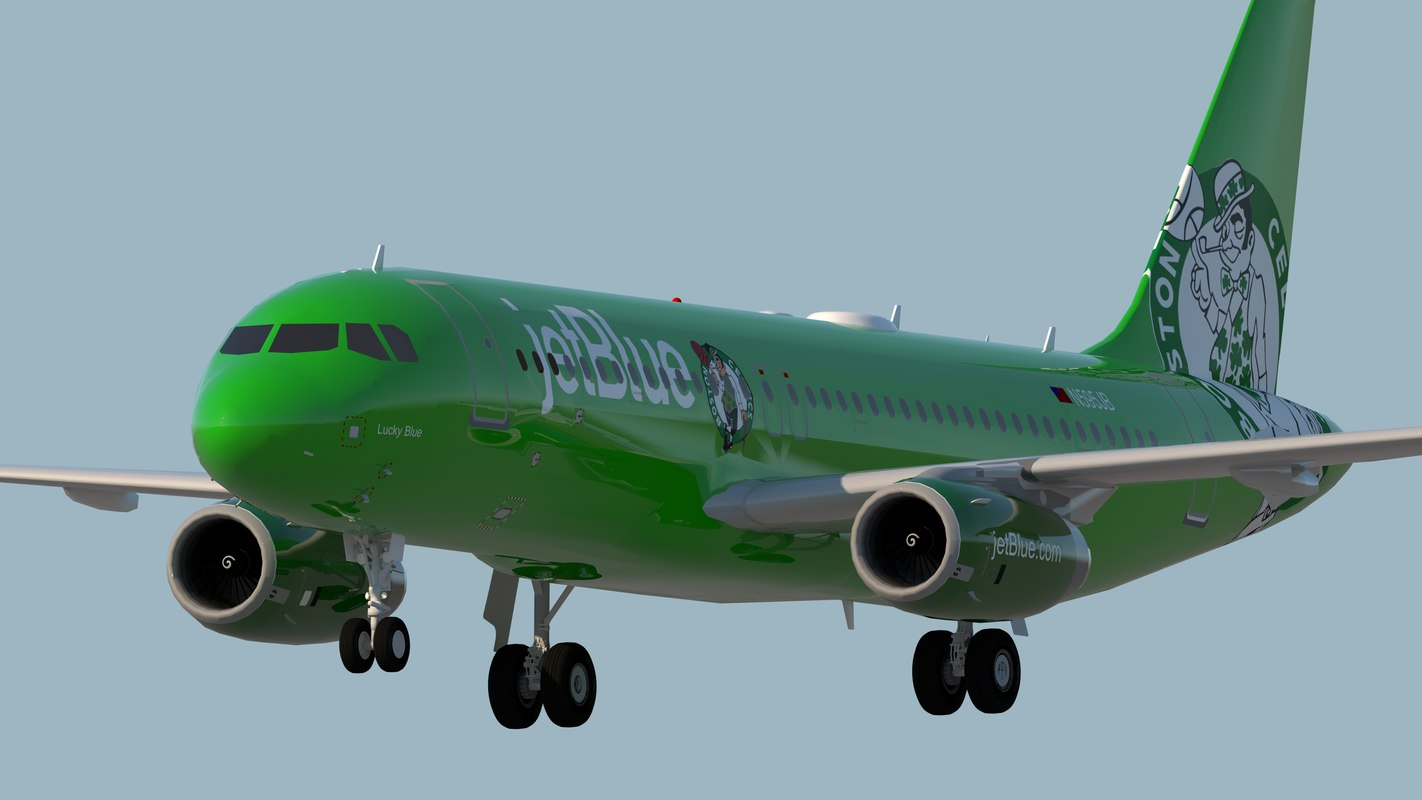 jetblue airways jet 3D model