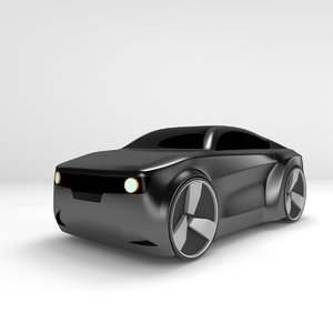 3D concept styled muscle car model