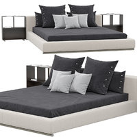 flexform groundpiece bed 3D